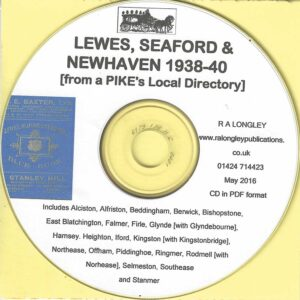 Lewes, Seaford & Newhaven Local Directory 1938-40 [Pike's] CD