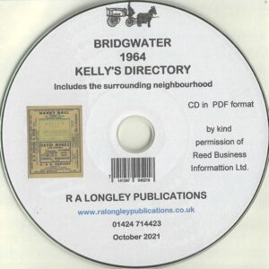 Bridgwater, Somerset 1964 Local Directory [Kelly's] CD