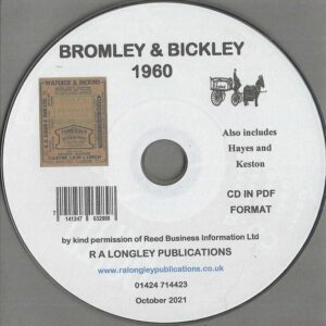 Bromley Local Directory 1960 [Kelly's] CD