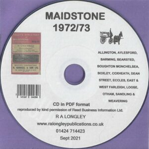 Maidstone, Kent, Local Directory 1972/73 [Kelly's] CD